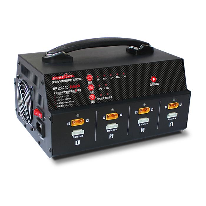 UP1200 8通道无人机锂电池充电器 (2~6S)